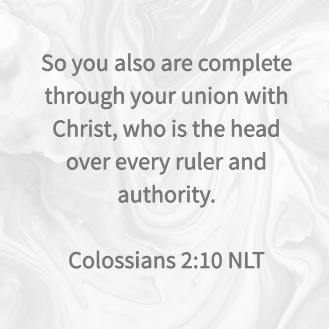 Colossians 210 NLT